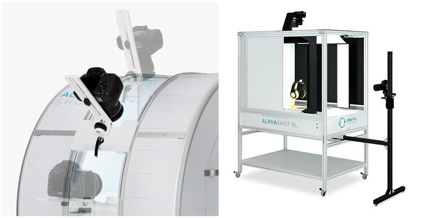 ALPHASHOT 360(圖左)擁有多角度相機支架,而ALPHASHOT XL...