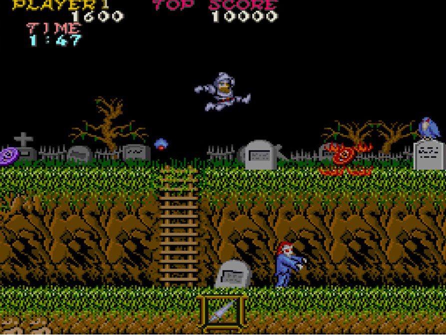 大型電玩版本的《魔界村》。