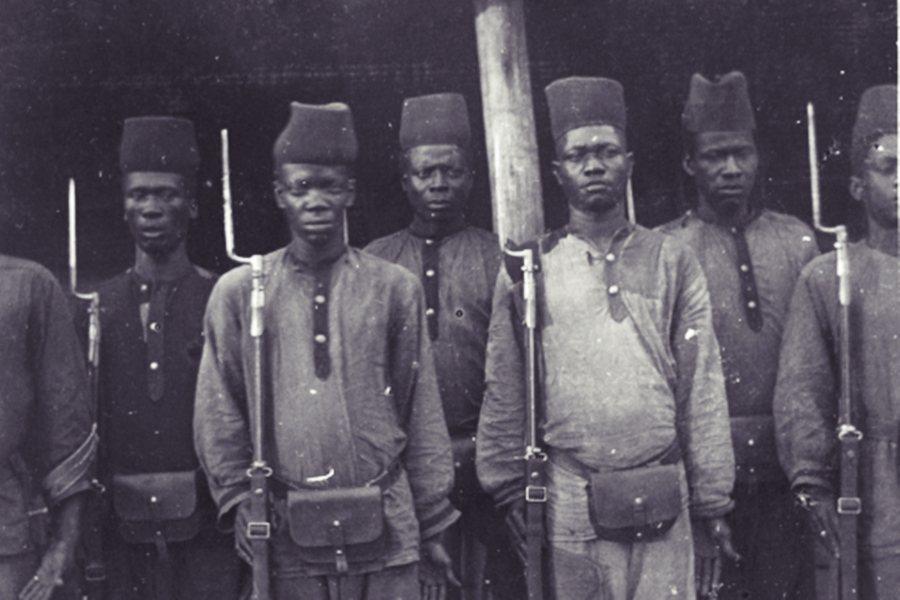 利奧波德二世的公安軍。 圖/維基共享