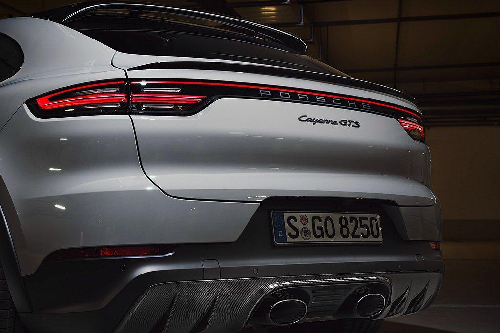 保時捷Cayenne GTS Coupe另可選配專屬開發的高頻調校跑車化排氣系統...