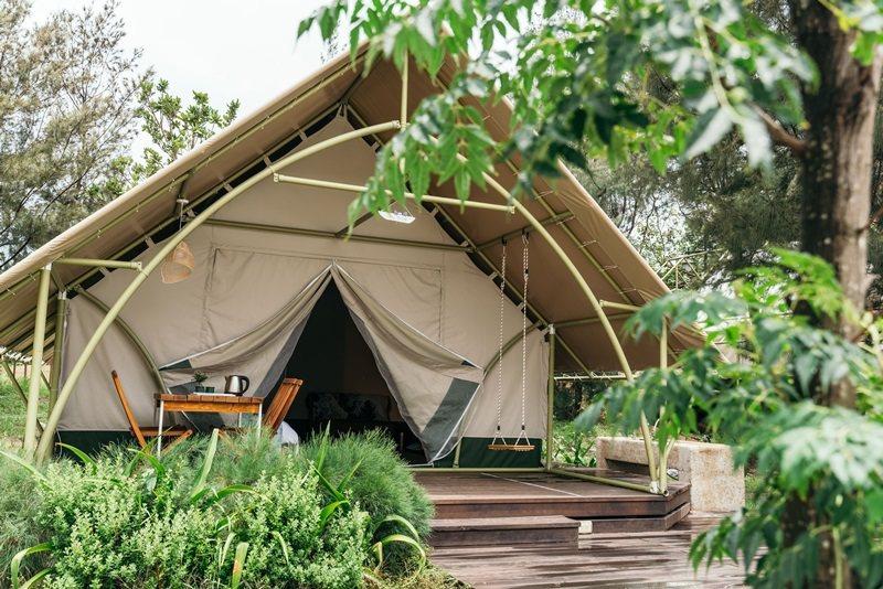 露營豪華帳篷嶄新登場。 攝影/Ray