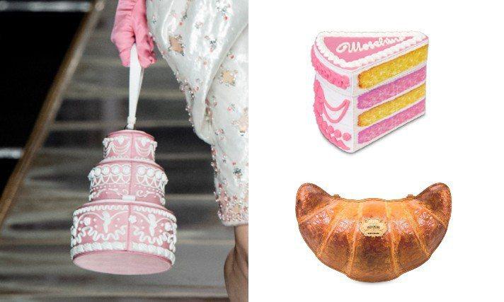 搞怪的MOSCHINO在今年初的米蘭秋冬時裝周發布了一系列靈感源自瑪麗安東尼與東京風格繽紛糖果色文化的新品,尤其以造型特殊的蛋糕、甜點盒包款最受到矚目。圖/MOSCHINO提供