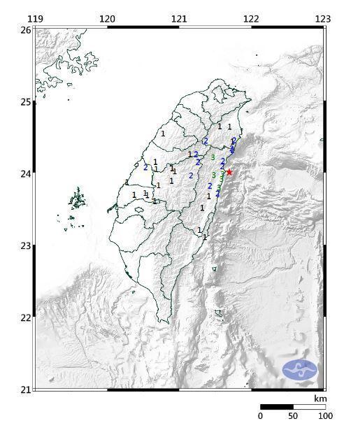 中央氣象局發布第31號顯著有感地震報告。圖/取自氣象局網站