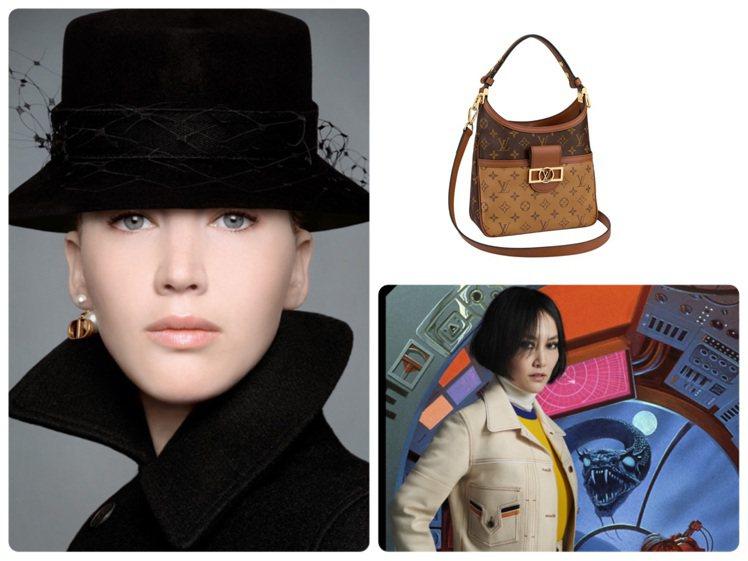 DIOR和路易威登都發表2020早秋系列女裝新品。圖/DIOR及LV提供