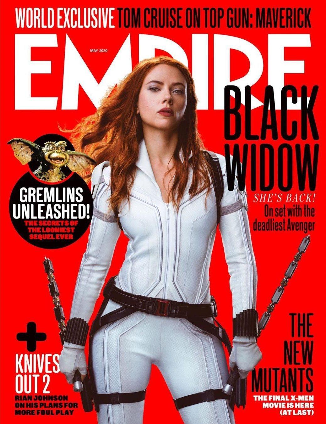 「黑寡婦」思嘉莉約翰森英姿已經登上各大雜誌封面,票房熱賣可期。圖/摘自EMPIR