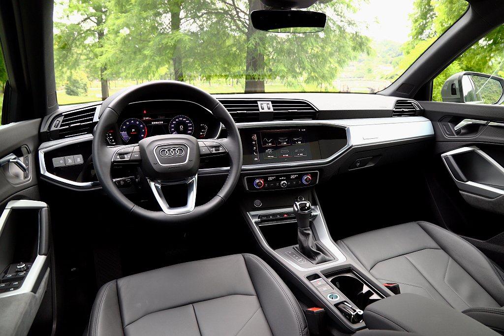 Audi Q3 Sportback將10.25吋全數位儀表、中控8.8吋觸控螢幕...