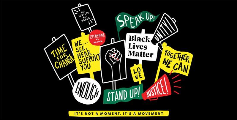 星巴克宣布將發放25萬件T恤支持BLM活動。取自推特(@Starbucks)