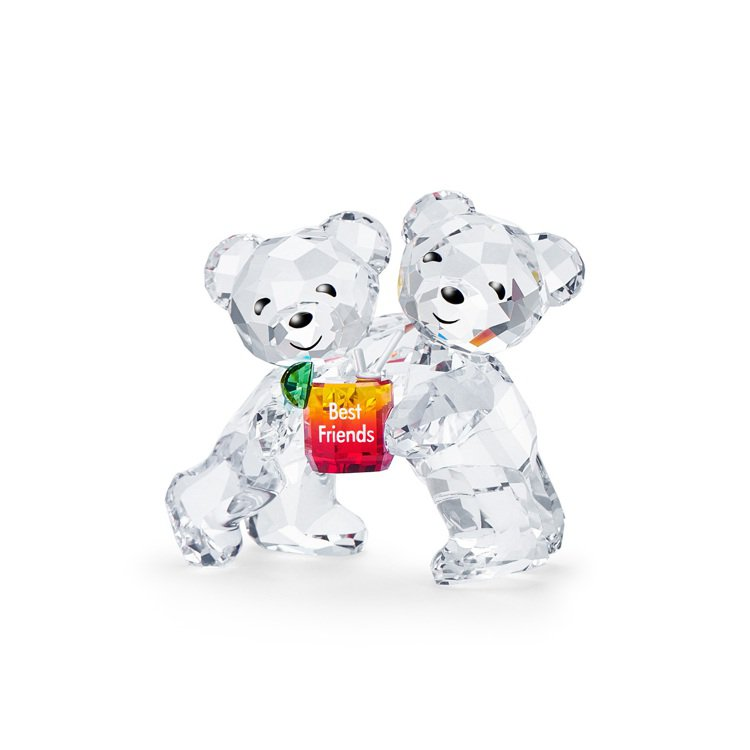 施華洛世奇KRIS小熊好朋友水晶擺件/4,990元。圖/施華洛世奇提供