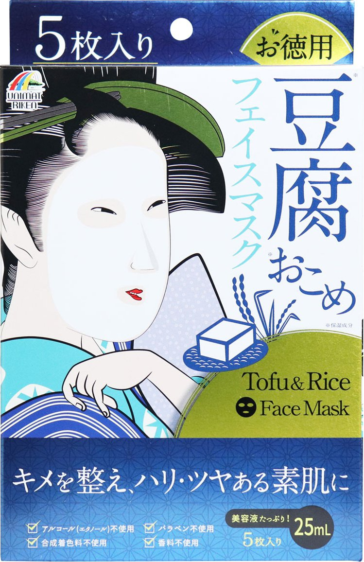 UNIMAT RIKEN豆腐大米保濕面膜5枚,原價269元、日藥本舖即日起至7月...