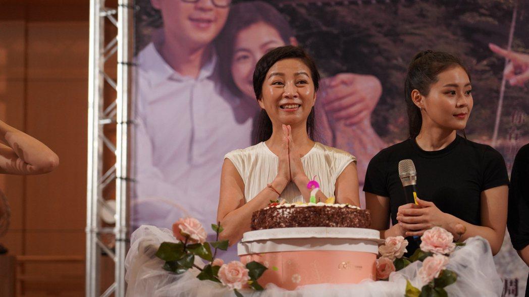 方文琳在新戲見面會上歡度生日。圖/大愛台提供