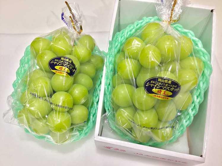 店內供應有麝香葡萄、水蜜桃等日本水果。圖/取自J Fruit Mart臉書粉絲頁