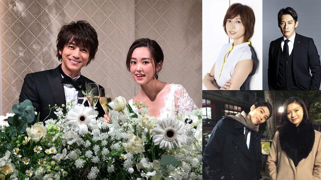 因戲結緣的日本銀色夫妻們。圖/擷自IG、ORICON STYLE、日本藝能網站