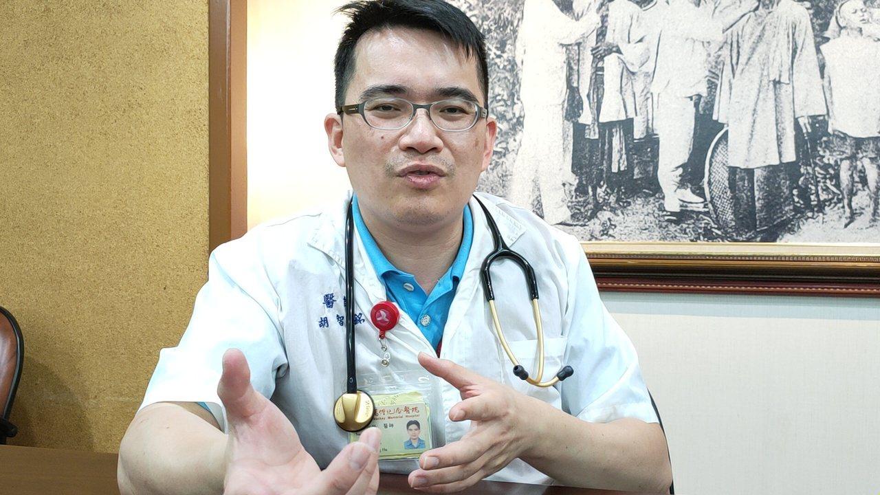 台東馬偕神經內科醫師胡智銘提醒三高患者是中風高危險群,切記要定時吃藥富期回診,冬...