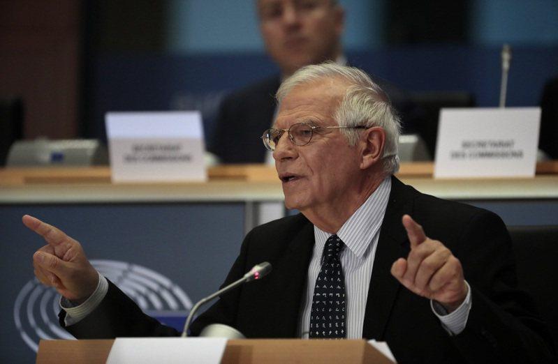 歐盟外交政策高級代表波瑞爾(Josep Borrell)。 美聯社