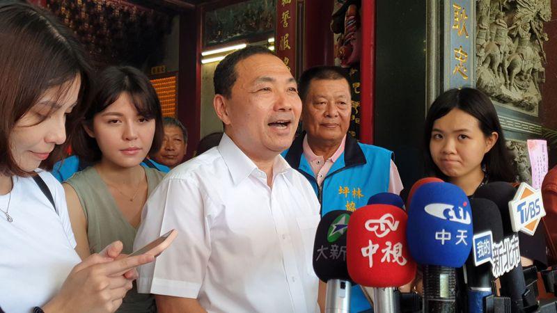 對於高雄市長補選,新北市長侯友宜表示,國民黨應有自己自主性,提出候選人重新贏得高雄市民信賴。記者胡瑞玲/攝影