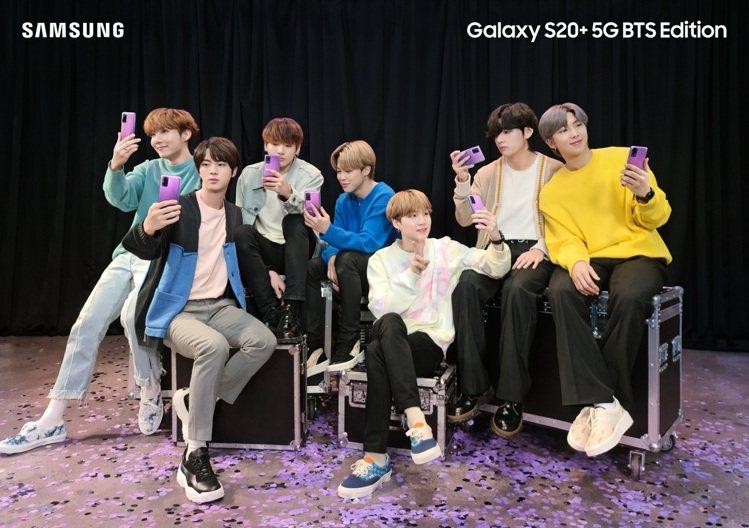 三星Galaxy S20+5G與Galaxy Buds+BTS Edition以...