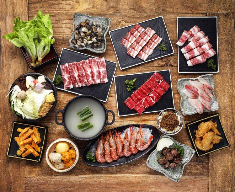 「鉄火鍋PLUS」提供3種吃到飽方案,每人358元起。圖/鉄火鍋PLUS提供