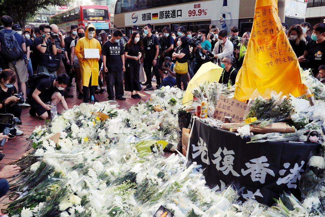 2020年6月15日,是香港示威者梁凌杰逝世一周年。 圖/路透社