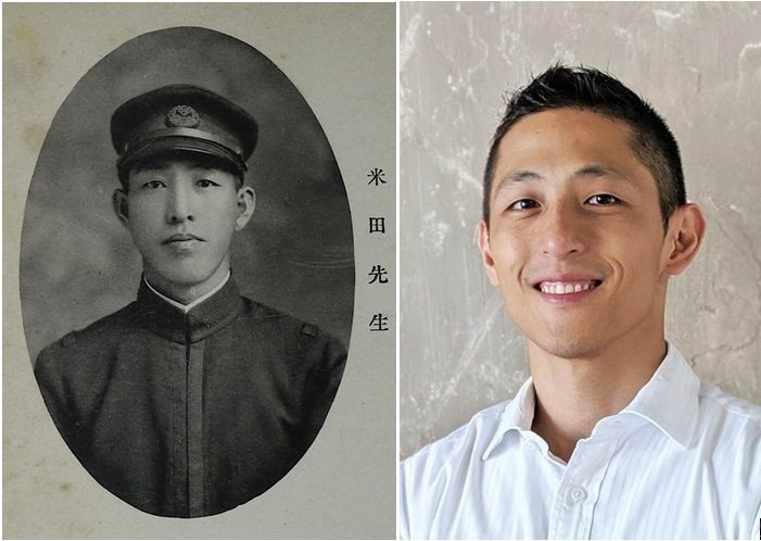 有眼尖網友發現,百年前的超帥日本教師長相神似吳怡農。圖擷自FB「國立台南女中」