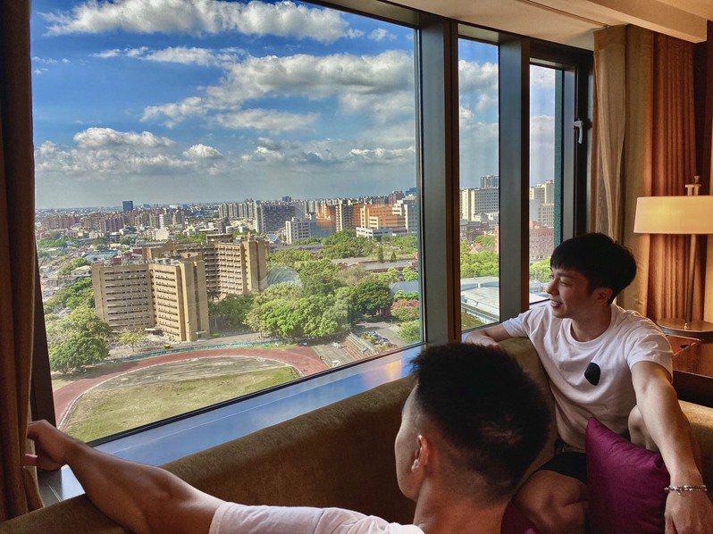 香格里拉台南遠東國際大飯店擁有高空景觀。圖/香格里拉台南遠東國際大飯店