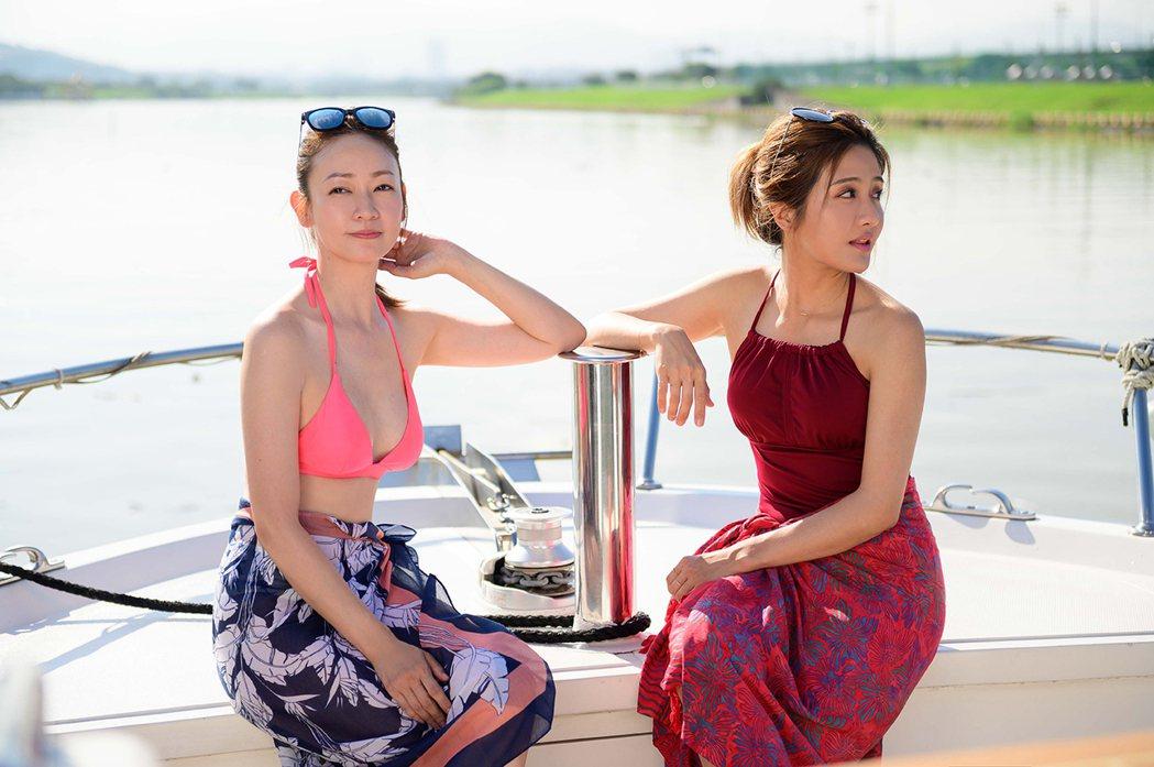 潘慧如(左)膚色白,與李宣榕的黝黑膚色形成對比。圖/TVBS提供