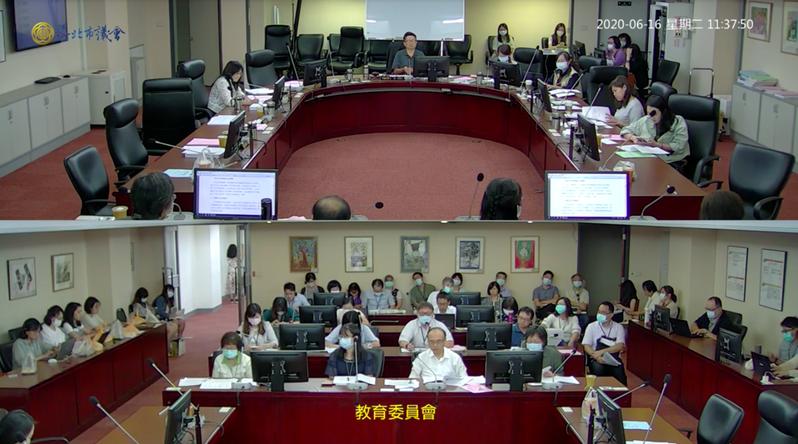 台北市議會教育委員會今日審查大巨蛋開發案107年度決算。圖/擷取自台北市議會直播