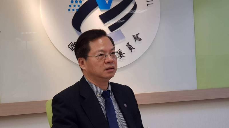 國發會主委龔明鑫今說明今年IMD世界競爭力年報。記者戴瑞瑤/攝影。