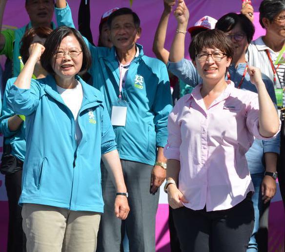 蔡英文總統(左)特別期勉蕭美琴,持續深化台美兩國之間的關係。 圖/聯合報系資料照片