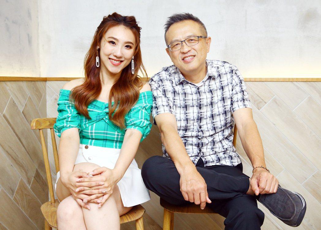 謝順福(右)、謝金晶想起和爸爸豬哥亮的點滴,仍忍不住哽咽。記者杜建重/攝影
