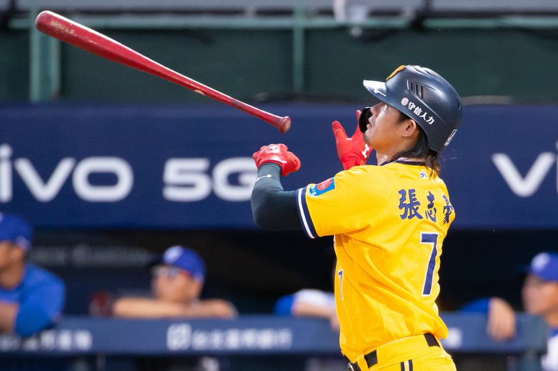 張志豪本季第本季第十轟、生涯第133轟出爐。記者季相儒/攝影