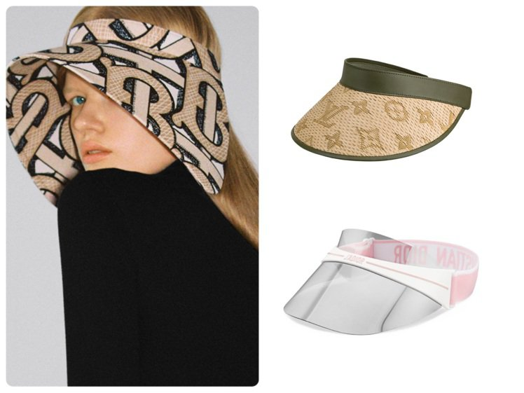 BURBERRY、路易威登、DIOR都推出夏日遮陽帽。圖/各品牌提供
