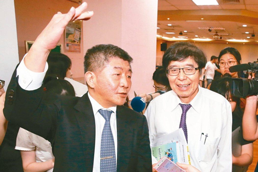 衛福部長陳時中(左)、健保署長李伯璋(右)。 記者林伯東/攝影