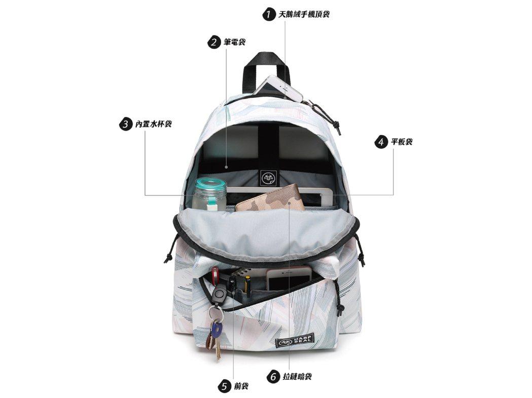 收納設計如手機袋、筆電袋、水杯袋、平板袋等,輕鬆分類物品不凌亂。HC STORE...