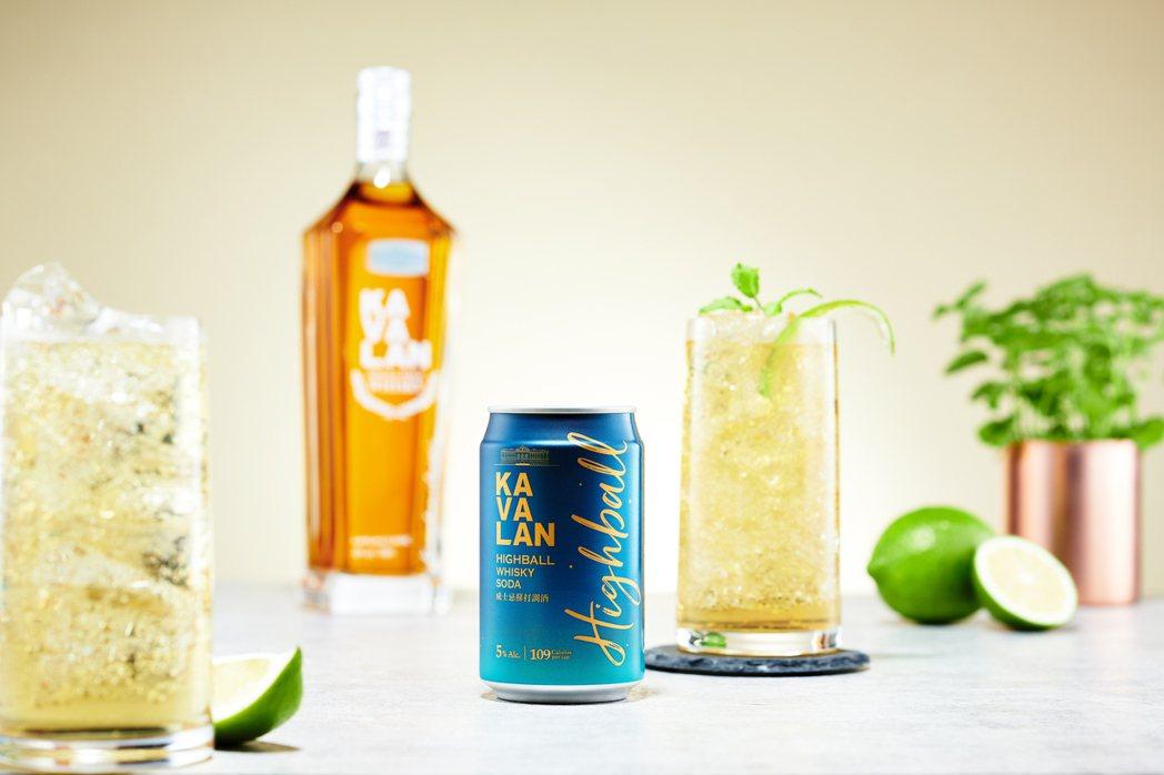 「噶瑪蘭威士忌蘇打調酒 KAVALAN Highball」使用噶瑪蘭經典單一麥芽...