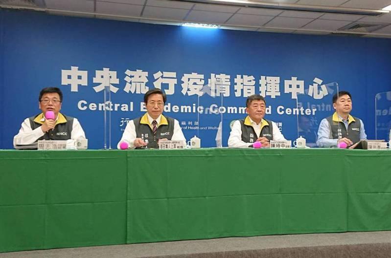 陳時中(左三)。記者陳婕翎/攝影