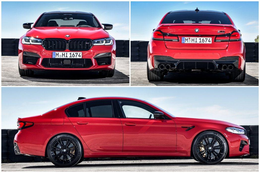 小改款BMW M5、M5 Competition車長稍微增加,圖為Competi...