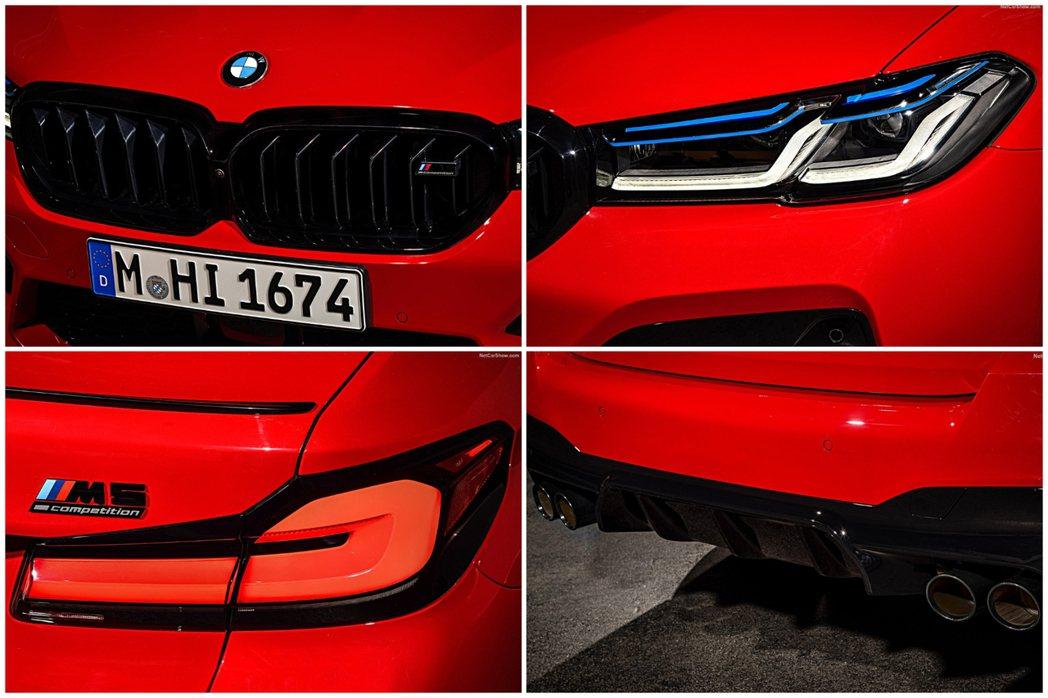 在小改款BMW M5 Compititon版本上還附上了諸多的黑色元素,就連「M...
