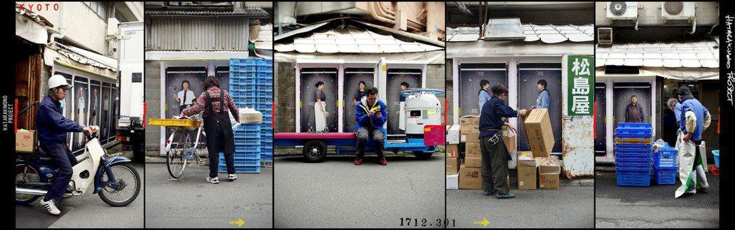 法國藝術家K-NARF將「勞動者」(市場周邊工作者)系列攝影作品,以一比一大小張...