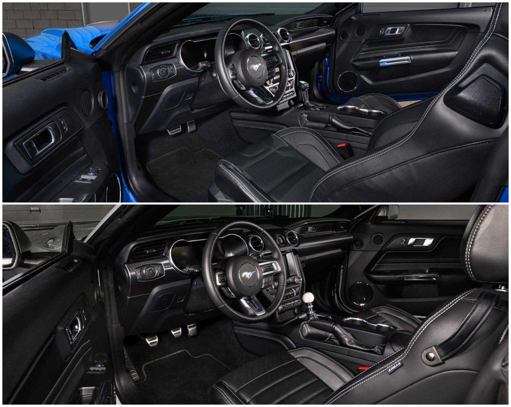 內裝部分手排版本則是更換上白球型排檔頭。 摘自Ford
