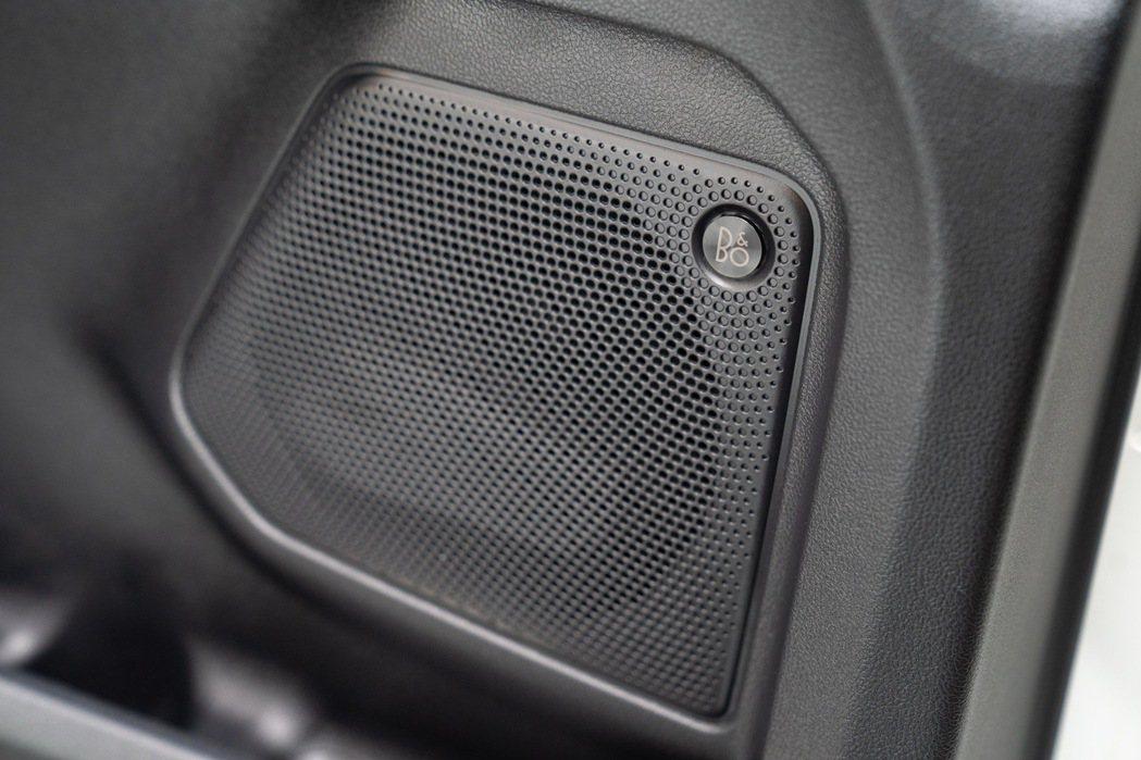 Ford Kuga還配置丹麥皇室御用B&O重低音環艙音響系統。 圖/福特六和提供