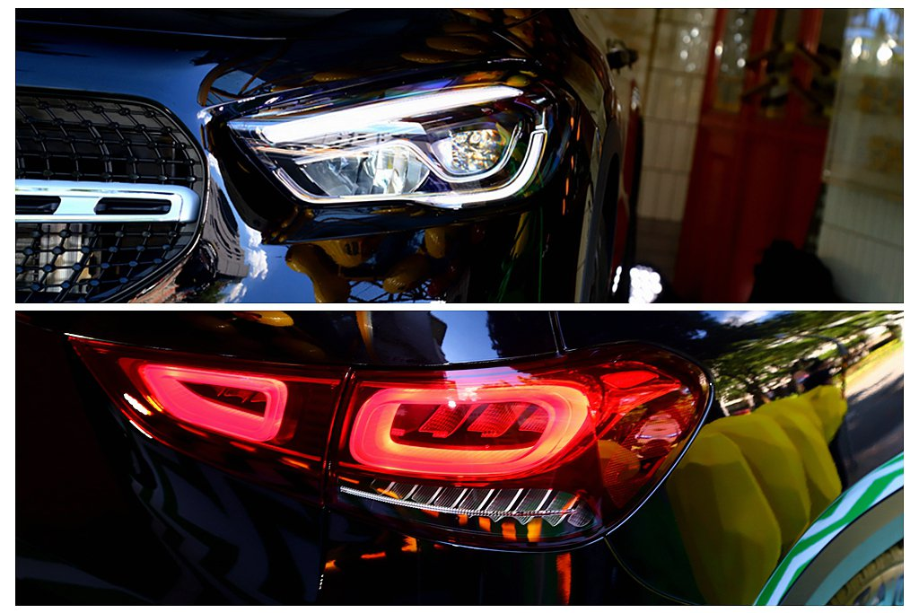 獨特的多邊形LED頭燈搭配火炬式日行燈,讓車頭眼神更為銳利。高亮度四環狀LED尾...