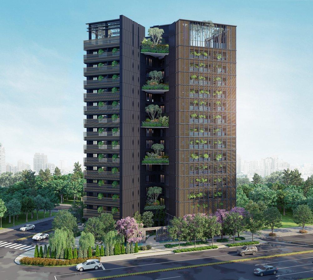 「東方博舍」以低調奢華之姿,註解當代建築美學,成為台灣大道公益路 交會軸心的地標...