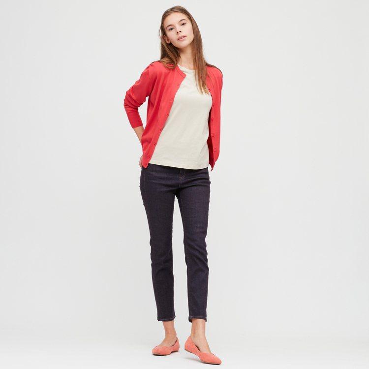 UNIQLO高腰SKINNY 九分牛仔褲,期間限定990元。圖/UNIQLO提供