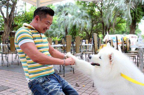 8點檔演員江俊翰去年拍完「大時代」後,近期演出「多情城市」一名因意外下半身癱瘓,必須靠輪椅代步、且已無法執業的醫師,演戲多半須坐在輪椅上度過,近日他帶著愛犬愛美麗接受專訪,難得到戶外走走,結果愛犬一...