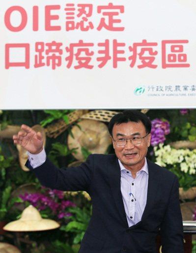 台灣從口蹄疫疫區除名後,農委會主委陳吉仲昨天宣布,未來還要拿掉典型豬瘟,讓台灣豬...