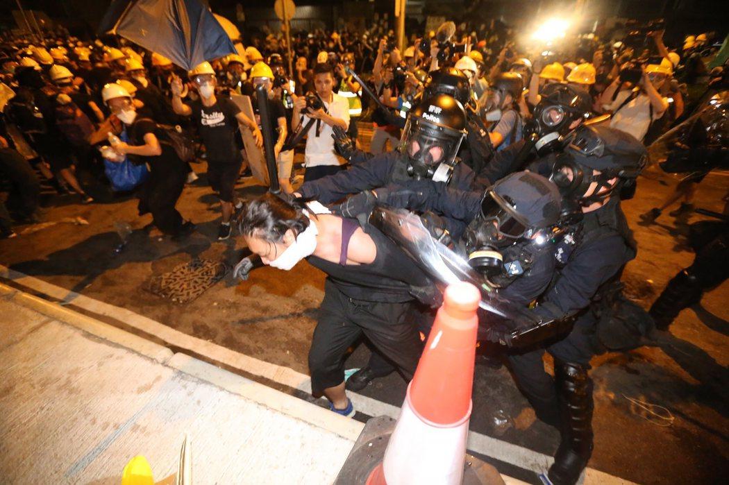 香港反送中有近9000人被捕。 圖/聯合報系資料照片