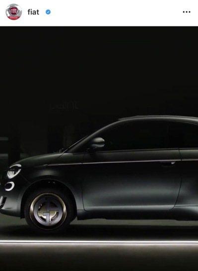 飛雅特與亞曼尼聯手打造的500 Armani獨一無二環保車款。 圖/取自IG@f...