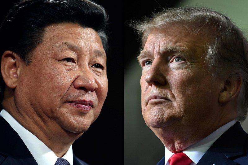 「共和黨、保守派媒體對中國強硬,民主黨跟自由派媒體對中國磕頭」,真的是這樣嗎?圖為習近平與川普。 圖/法新社