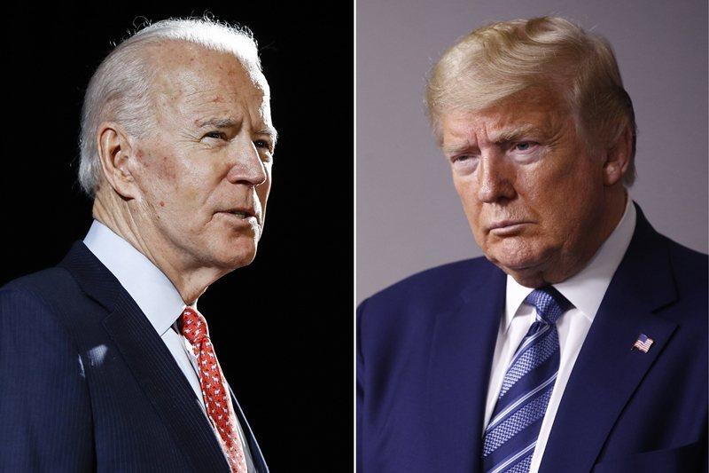 2020年美國總統選舉候選人,作為民主黨代表拜登,右為共和黨代表川普。 圖/美聯社