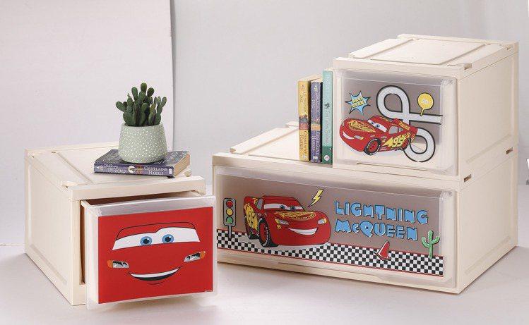 HOLA迪士尼系列閃電麥昆單層堆疊抽屜櫃W27紅/白原價699元、特價599元,...